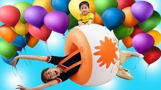 엄마와 몸 풍선 대결을 해봤어요!! 서은이의 칼라 풍선 대결 하트풍선 Body Balloon Contest with Mommy