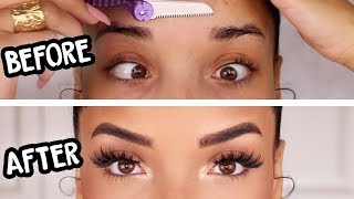 (AFFORDABLE) EYEBROW ROUTINE | Grooming & Filling In | RAVEN ELYSE