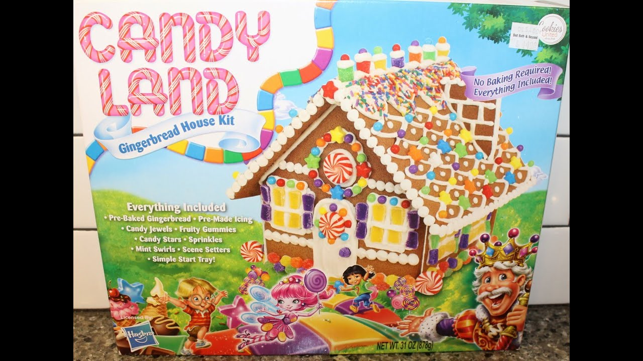 Candy Land Gingerbread House Kit Assembly