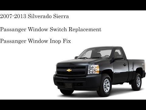 2007 2013 Silverado Sierra Passenger Window Switch Replacement Youtube