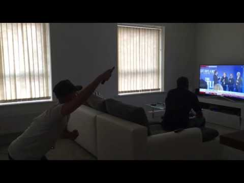 Never F**K with a man and his television!
