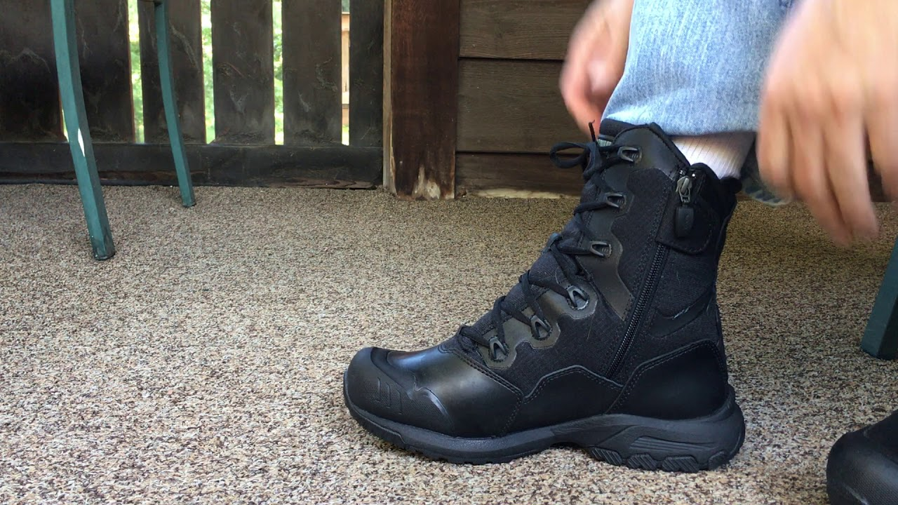 Magnum Mach 1 Tactical Combat Boots Police Security Youtube