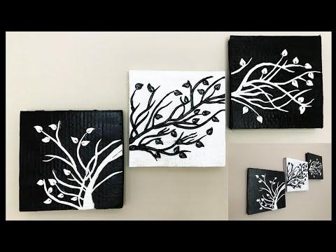 DIY Wall Hanging 3D Clay Mural Art Using Cardboard - DIY Home Decor wall art | #017 |
