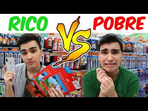 RICO VS POBRE COMPRANDO MATERIAL ESCOLAR