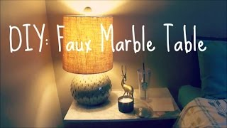 Diy | Faux Marble Table