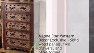 Alder Wood Chest Of Drawers - Lonestarwesterndecor.com