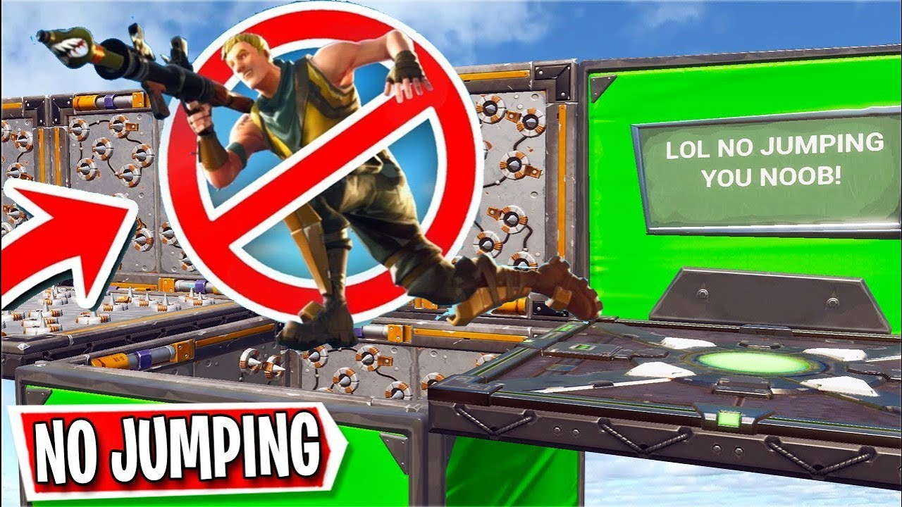 if i jump the video ends   Fortnite