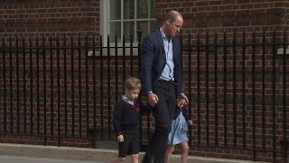 Prince William brings kids to meet their baby brother