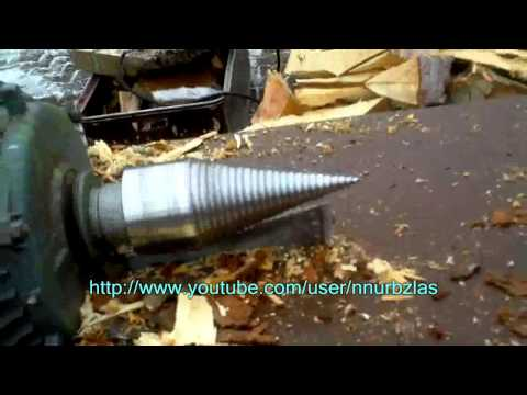 WOOD SCREW SPLITTER  - GAS POWERED OR  ELECTRO POWERED (changing the engine)