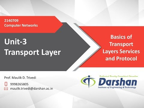 3.01 - Basics Of Transport Layers Services And Protocol