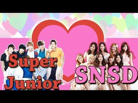 "When ""SUJU"" Super Junior meet SNSD Funny & Romance moments"