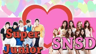 "When ""SUJU"" Super Junior meet SNSD Funny & Romance moments - Stafaband"