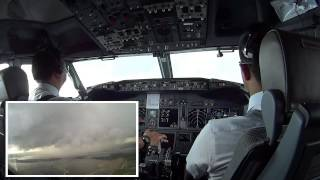 CUMULONIMBUS DISSIPATING STAGE - COCKPIT VIEW AT BALI