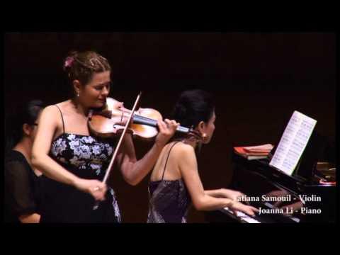 Saint Saens - Introduction and Rondo Capriccioso - Joanna Li (Piano) & Tatiana Samouil (Violin)