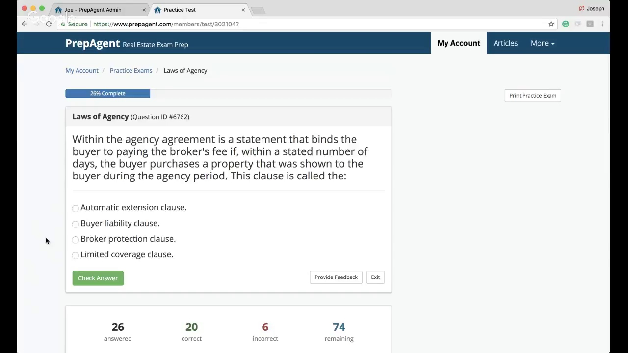 Premium Webinar Laws Of Agency Real Estate Exam Questions Review Youtube