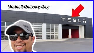 Picking Up My New Car! Tesla Model 3 Delivery Day Experience