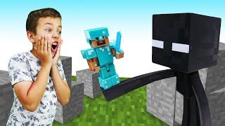 Лего Майнкрафт: Стив и Мобы - все серии. Игры Minecraft
