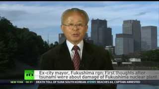 破壊された福島原子力発電所に近い双葉町の元町長井戸川克隆は、放射能...