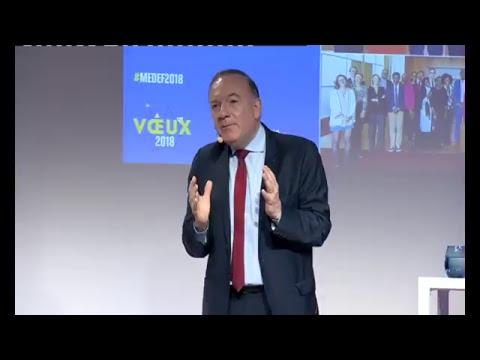 Vœux 2018 de Pierre Gattaz