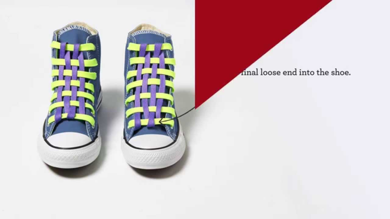 336403d95f6e How to Lace Your Converse  Checkerboard - YouTube