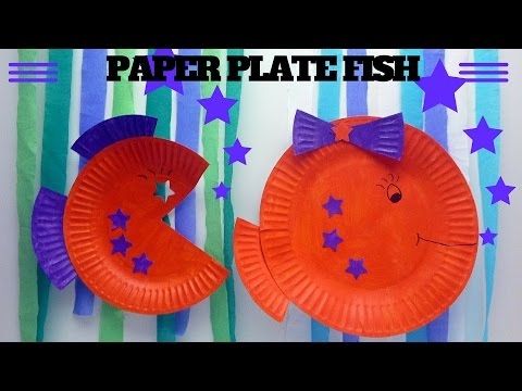 How To Make A Paper Plate Fish | Paper Plate Crafts
