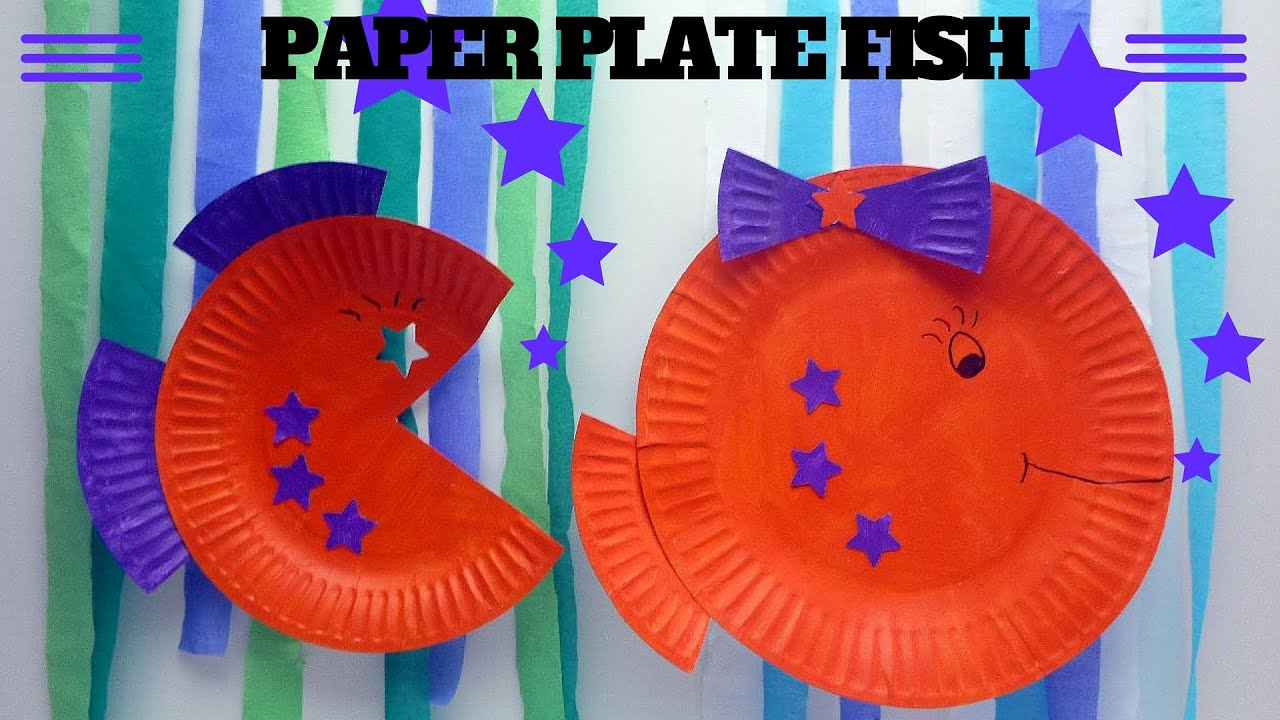 How To Make A Paper Plate Fish Paper Plate Crafts Youtube