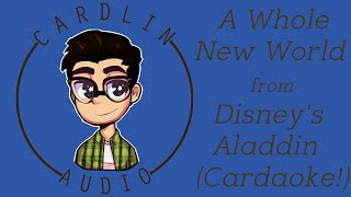 Cardaoke with Cardlin! A Whole New World from Disney