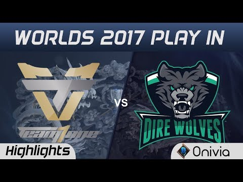 ONE vs DW Highlights World Championship 2017 Play In Team One vs Dire Wolves by Onivia