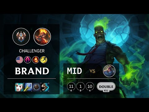 Brand Mid vs Yasuo - NA Challenger Patch 10.16