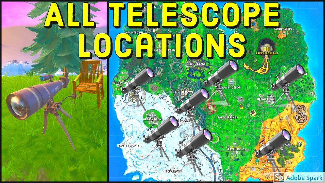 ALL TELESCOPE LOCATIONS - Dance at Different Telescopes ...