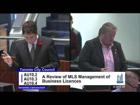 Cllr. Di Ciano at City Council Nov 4, 2017-  Body Rub Parlours - ML&S Business Licences Review