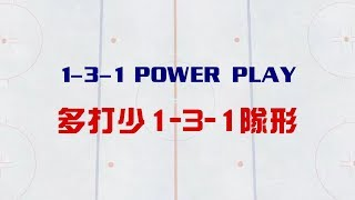 Ice Hockey Power Play   1-3-1 Formation