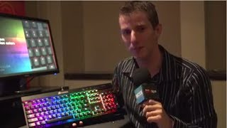 corsair rgb backlit mechanical keyboard ces 2014