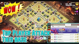 WOW!! TOP PLAYER ATTACK WAR LEAGUES - ANY AIR & GROUNDS TH12 ( Clash of Clans )