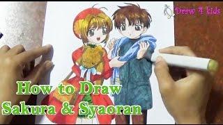 How to draw Sakura & Syaoran from Cardcaptor | D4K