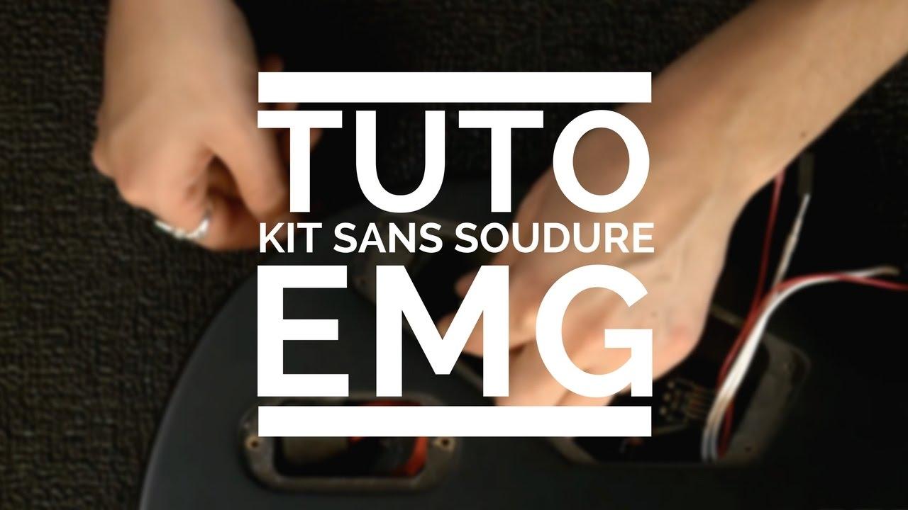 Tuto Sur Linstallation Du Kit Sans Soudure Emg Pour Guitare Active Bass Pickup Wiring Diagram Lectrique La Boite Noire