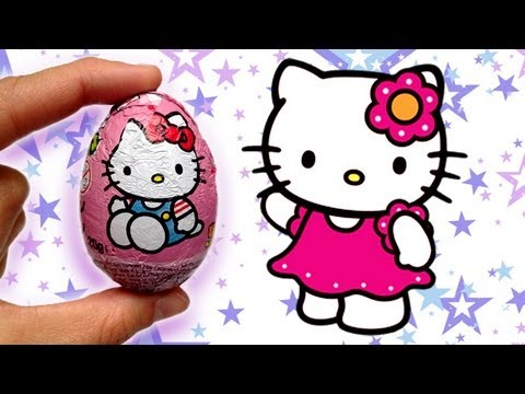 hello kitty kinder surprise chocolate egg unwrapping youtube. Black Bedroom Furniture Sets. Home Design Ideas