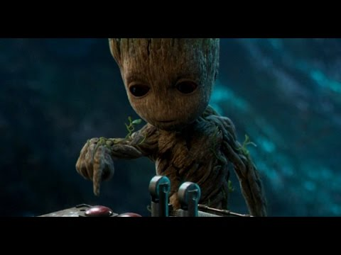 Marvel's Guardians Of The Galaxy Vol. 2 (2017) – Baby Groot Button Bomb Scene