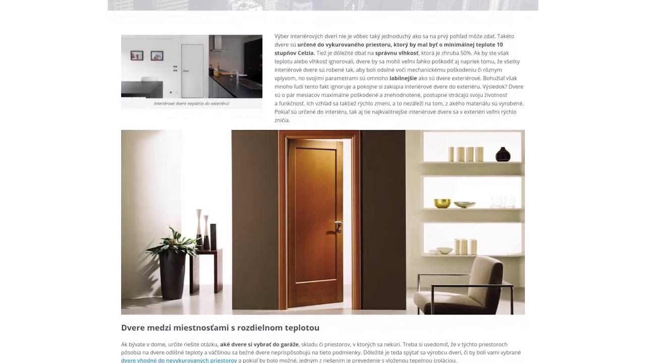 28f6e0024a020 Interiérové dvere nepatria do exteriéru! | INTER-OKNO