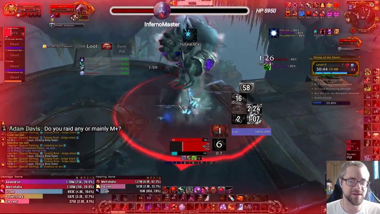 Azerite Traits OP!? - Aqu'sirr +9 Tyrannical Solo Save - Blood DK PoV