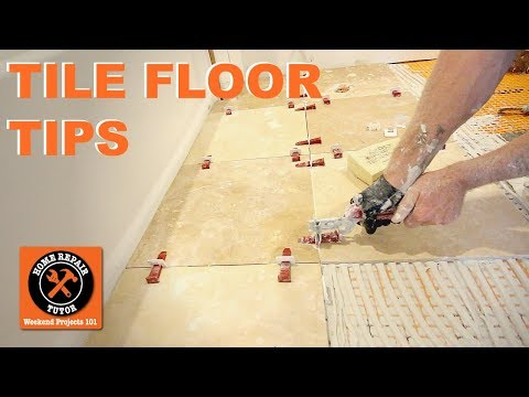 How to Tile a Bathroom Floor...Travertine Tile Over DITRA (Step-by-Step)