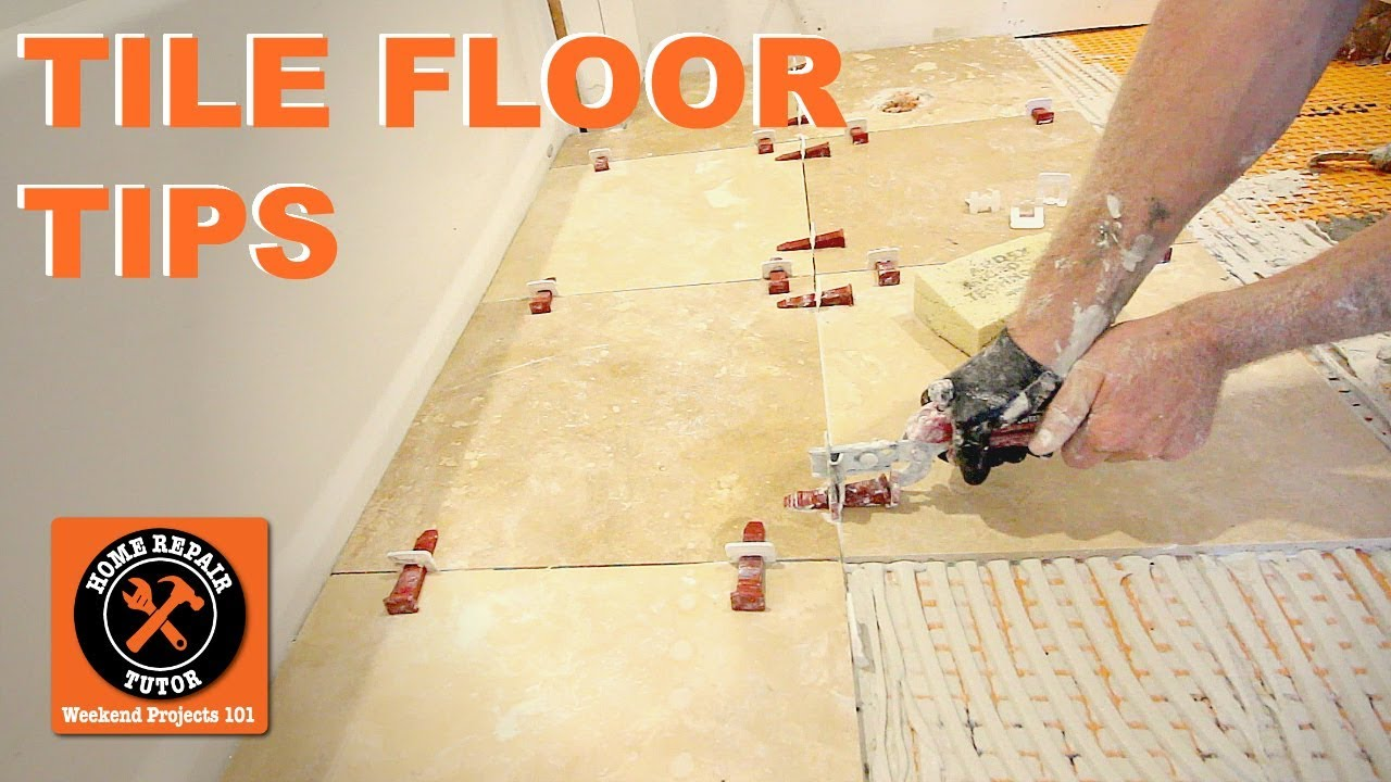 How to Tile a Bathroom Floor...Travertine Tile Over DITRA (Step-by ...