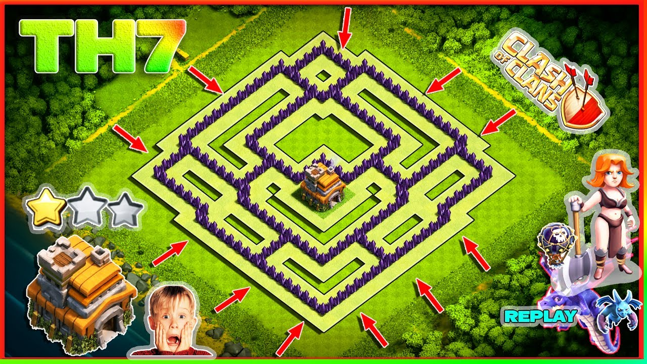 New Town Hall Th7 Farming Base 2020 Th7 Base With Copy Link Clash Of Clans Youtube