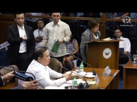Heated exchange between Gordon, de Lima, Trillanes in the Senate