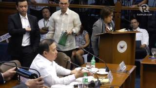 Heated exchange between Gordon, de Lima, Trillanes in the Senate