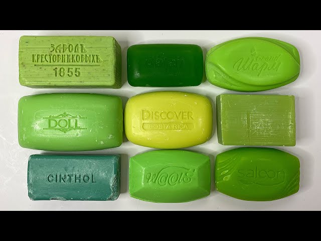 Dry green soap💚 Soap Cutting ASMR. Relaxing Sounds (no talking). Satisfying ASMR Video. Asmr soap.