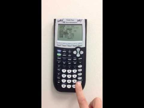 How To Get Your Ti 8384 Calculator In Degree Mode Vcs Youtube