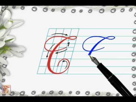 Luyện viết chữ đẹp - Chữ hoa T viết nghiêng - How to write capital letter T