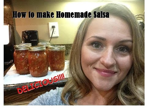 How To Make Homemade Salsa| Waterbath Canning