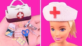 DIY Miniature Barbie Crafts~ Toy Medical Kits~ Doctor bag, Band aid and More